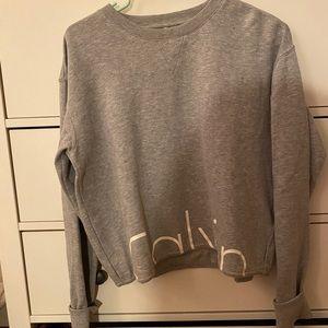 Calcin Klein Cropped Sweatshirt